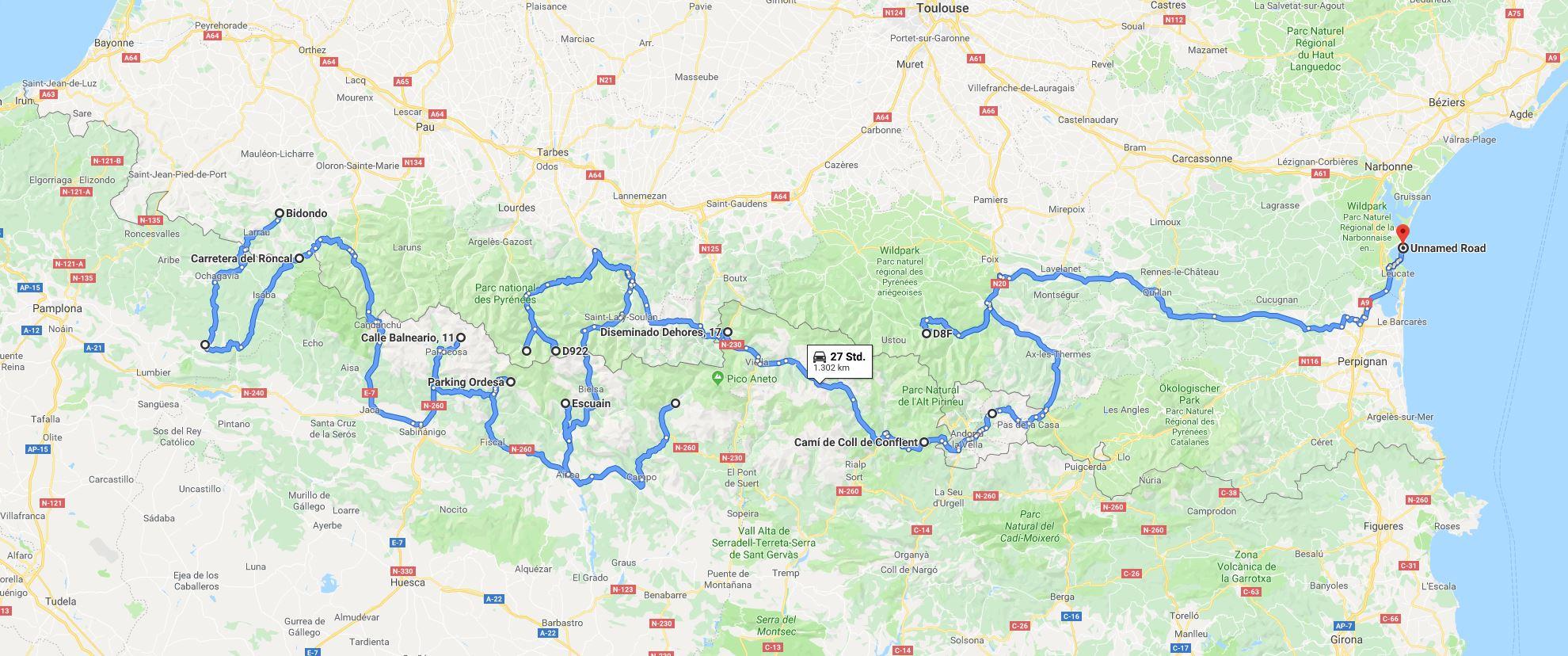 Tour des Pyrénées